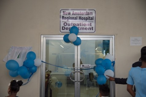 The new outpatient department at the New Amsterdam Regional Hospital.