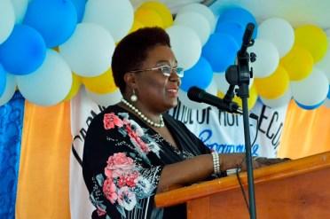 Principal of the CSHE, Mrs. Myrna Lee.
