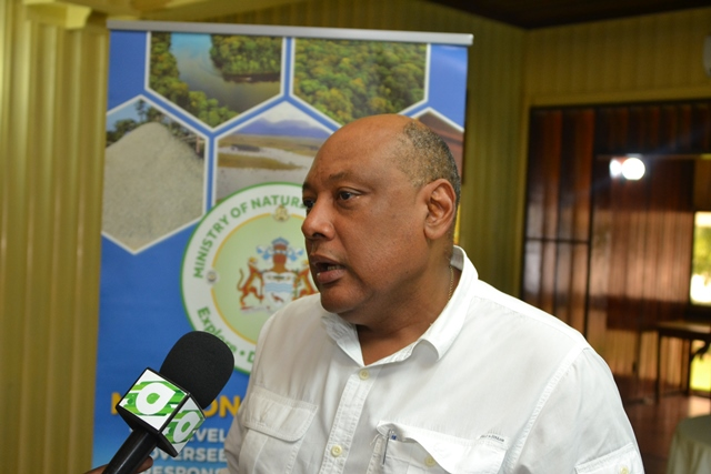 Minister of Natural Resources the Hon. Raphael Trotman.