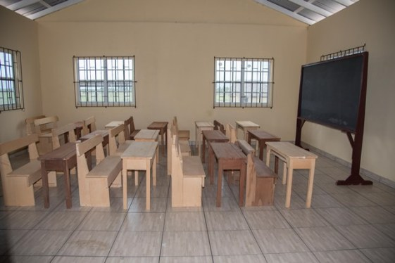 A classroom in the Bashaizon Primary School.