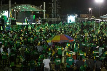 Some of the Coalition Government supporters at the Golden Grove Community Ground Rally on the East Coast of Demerara.