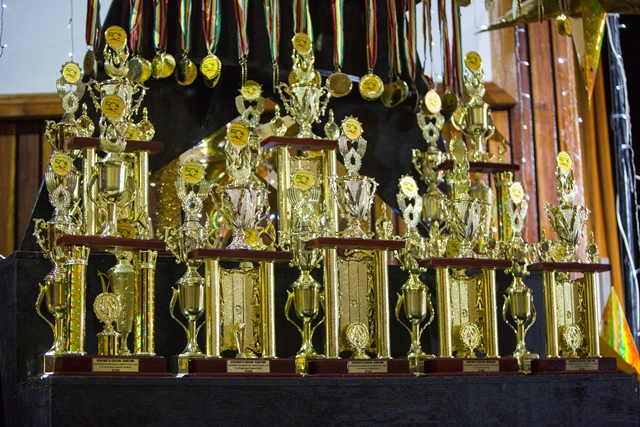 The Trophies up for grabs.