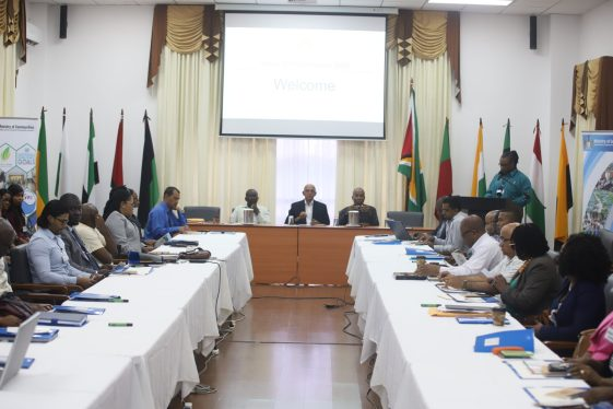 Some of the senior staff of the Ministry of Communities gathered for the annual staff conference
