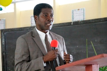 OAS Country Representative in Guyana, Ambassador Jean Ricot Dormeus.