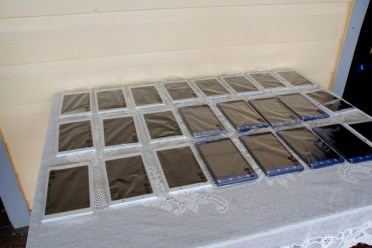 A sample of the tablets that are included in each kit.