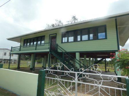 The newly renovated State House in Kwakwani