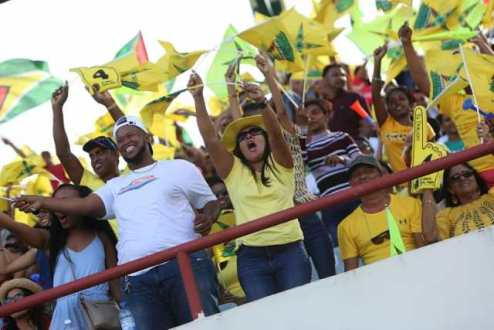 (Flashback) Amazon Warriors fans at a CPL match in October 2019.