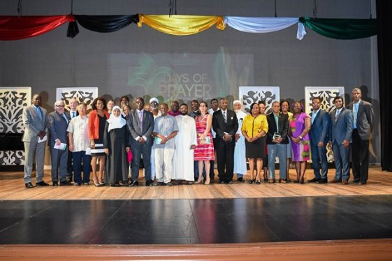 Members of the various religious denominations, government officials, and members of the diplomatic corps who attended the National Day of Prayer.