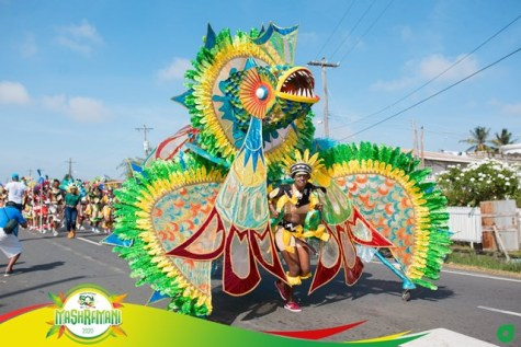 Scenes from Mashramani 2020 Costume and Float parade.