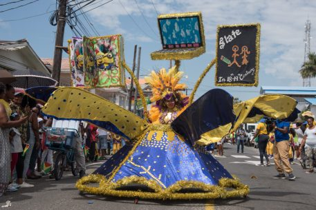 One of the eye-catching costumes on display at the 2020, Children's Costume and Float Parade