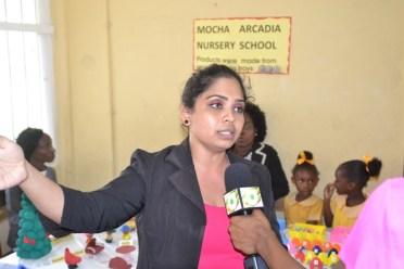 Marcya Ramnauth, Teacher, Eccles Nursery School.