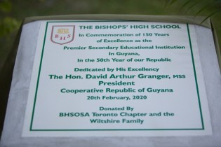 The Commemorative plaque which was unveiled.