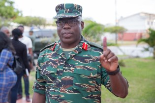 Chief of Staff of the GDF Brigadier Patrick West after casting his ballot.
