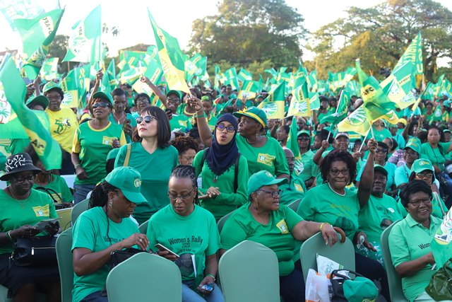 Some of the attendees at the Coalition's women's rally at Parade Ground, Georgetown.