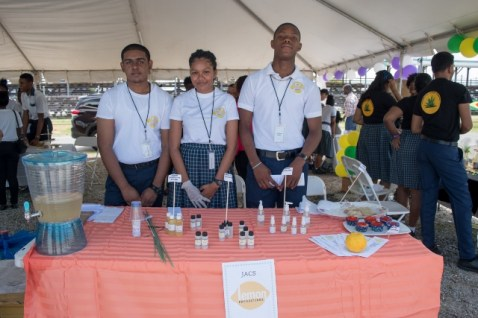 Students that produced Jacs Lemon Productions and their products at Youth Village 2020.