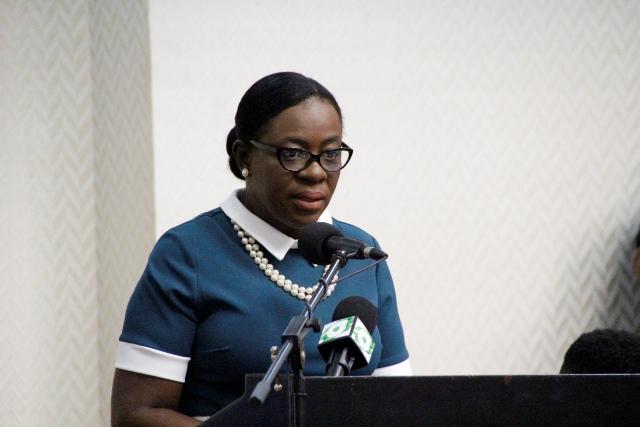 Minister of Education, Dr. Nicolette Henry.