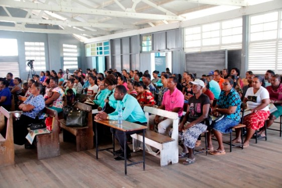 Parents gathered at the Canje Secondary School for their meeting.