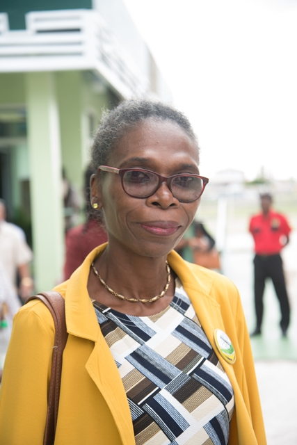 Vanessa Jacobs, resident and Principal of the New Amsterdam Secondary School.