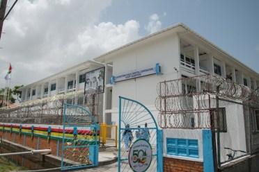 The newly rehabilitated staff quarters.