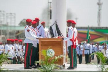 Scenes from the hoisting of the Golden Arrowhead in honour of Guyana's Republic Jubilee.