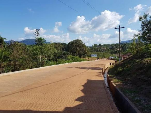 One of the rehabilitated roads in the township of Mahdia Region 8.