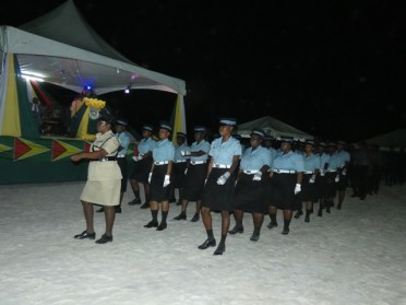 Female police officers participating in the parade.