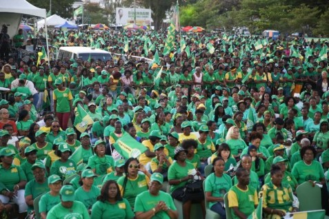 A section of the audience at the Coalition's women rally at Parade Ground, Georgetown.