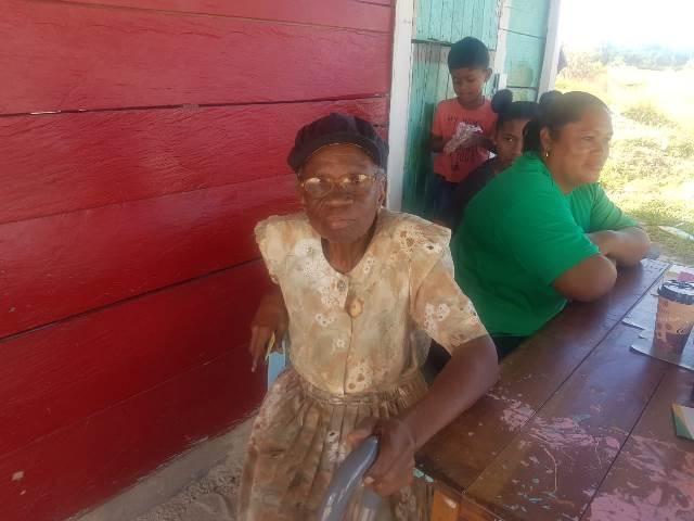 Elderly resident Constance Charles.