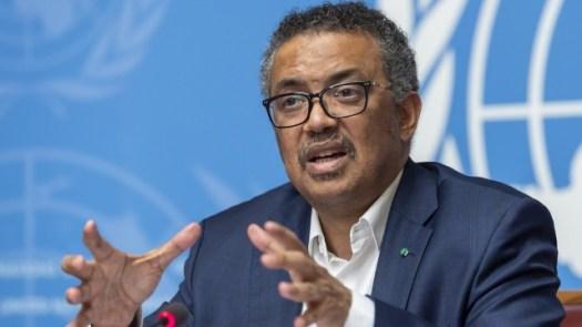 Director-General of WHO, Dr. Tedros Adhanom Ghebreyesus.