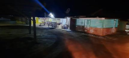Popular night spot at Mabura on the first night the curfew was implemented
