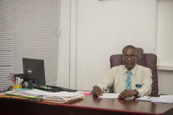 Dr. Fawcett Jeffrey, Director of Medical & Professional Services at the Georgetown Public Hospital.