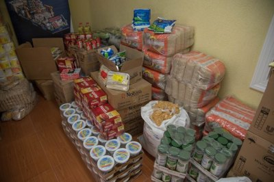 The food and hygienic supplies donated by Tullow Oil Guyana