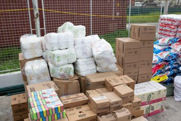 Some of the supplies which were donated