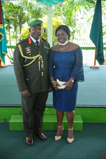 Brigadier Godfrey Bess and his wife Shandelle Bess