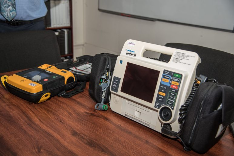 The Mobile Cardiac Monitor Defibrillator Units donated to the Ministry of Health by the National Medical Response team