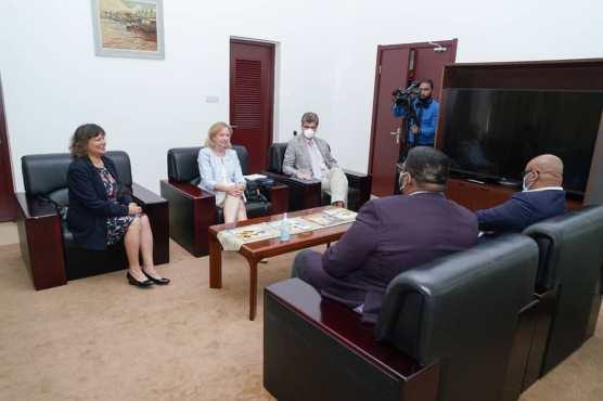 President Irfaan Ali AND Vice President Jagdeo meeting members of the Diplomatic Community