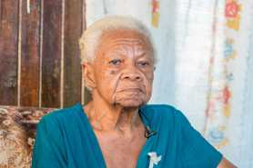 Evelyn Bacchus, oldest resident in Victoria