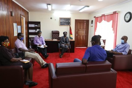 GP&TWU representatives in a meeting with Minister of Labour, Hon. Joseph Hamilton