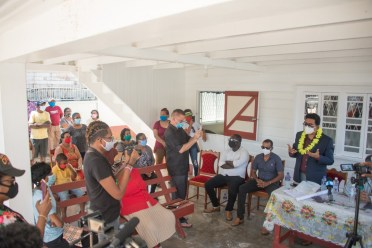 Attorney General and Minister of Legal Affairs Hon. Anil Nandlall meets with residents of Kingelly Village, West Coast Berbice