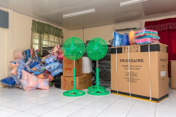 Items the Rotary Club of Georgetown donated to the Ministry of Human Services and Social Security for the night Shelter
