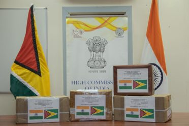 Medical supplies donated by the Indian Government