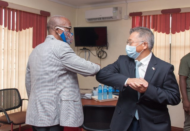 Minister of Labour, Hon. Joseph Hamilton and Chinese Ambassador to Guyana, Cui Jianchun