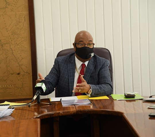 Minister of Public Works, Hon. Bishop Juan Edghill addresses the new NPTAB Board Members