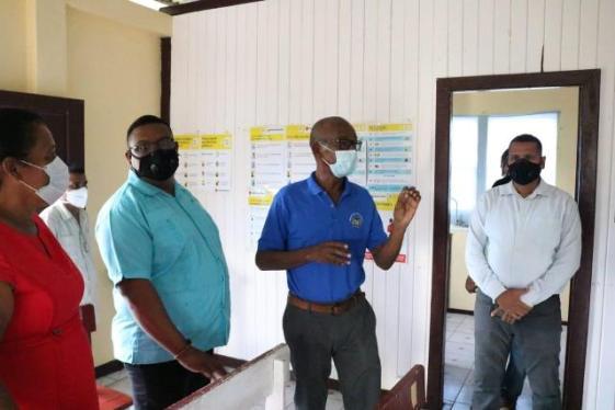 Minister of Labour, Hon. Joseph Hamilton addresses Regional officials at Barima-Waini (Region One)