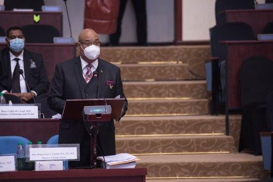 Hon. Bishop Juan Edghill, Minister of Public Works.