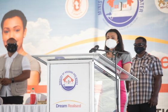 Minister within the Ministry of Housing and Water, Hon. Susan Rodrigues