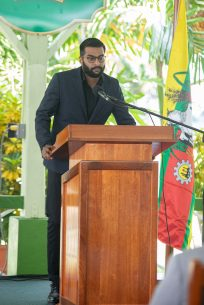 Great-nephew of the late former President Mrs. Janet Jagan, Mr. Ion Jagan