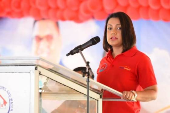 Minister within the Ministry of Housing and Water, Hon. Susan Rodrigues, addresses Region Three residents