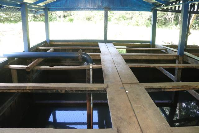 The Spring box which is being rehabilitated in Mabaruma