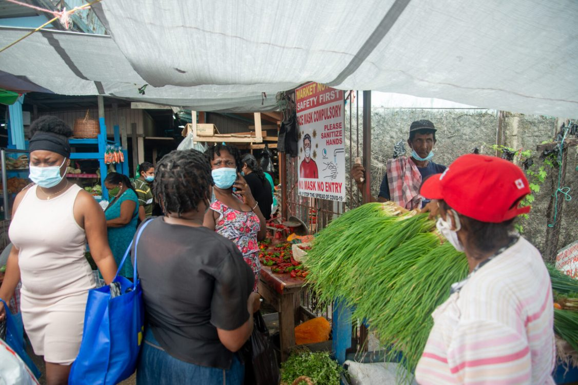 A section of the Mon Repos Market